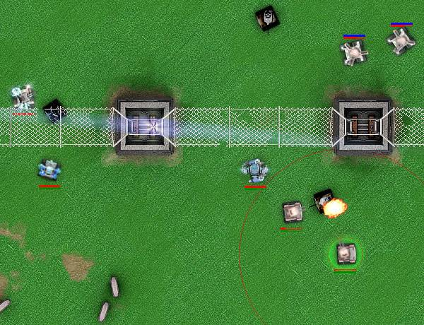 Battle on high voltage fields, in free Online War Game